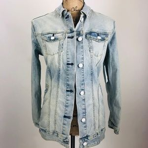 Lularoe Jaxon Embroidered Unicorn Jean Jacket